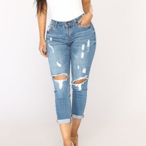 Roll 'Em Up Ankle Jeans